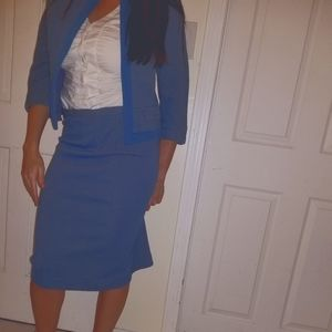 Vintage Double Knit Wool 2 Piece Suit Dress Small